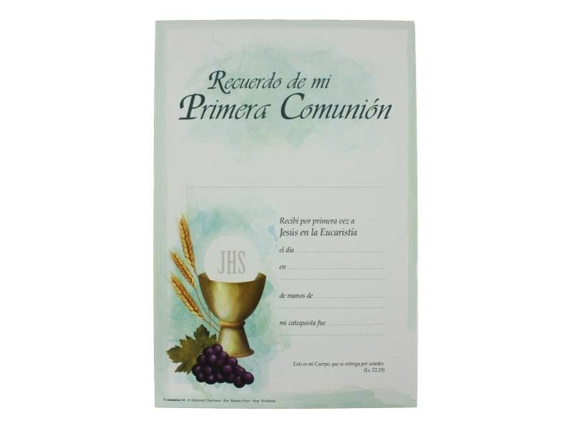 Diploma_Recuerdo_de_mi_Primera_Comunion_26x17cm_-_frente