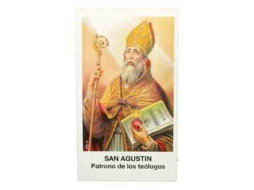 Estampita San Agustin