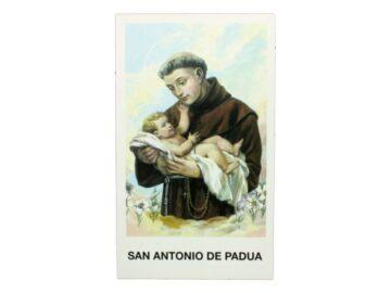Estampita San Antonio de Padua frente