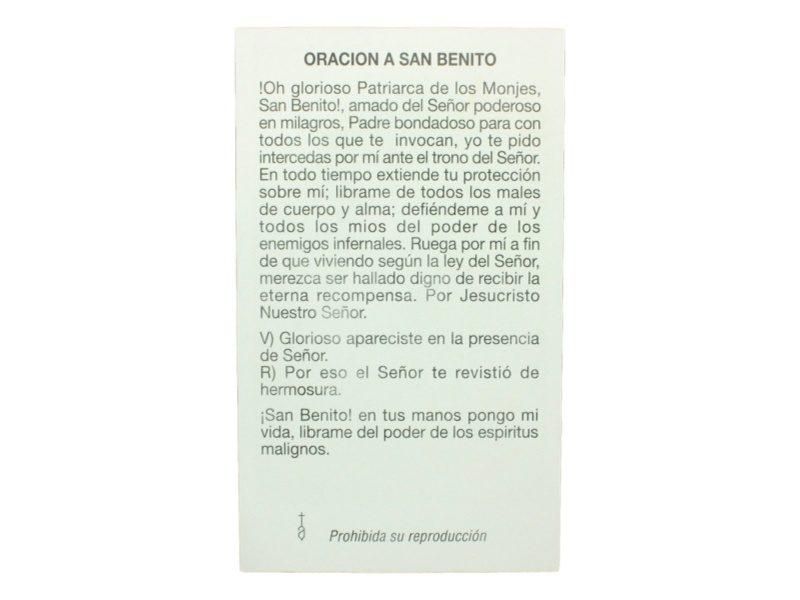 Estampita San Benito Abad oracion