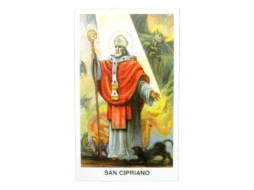 Estampita San Cipriano frente