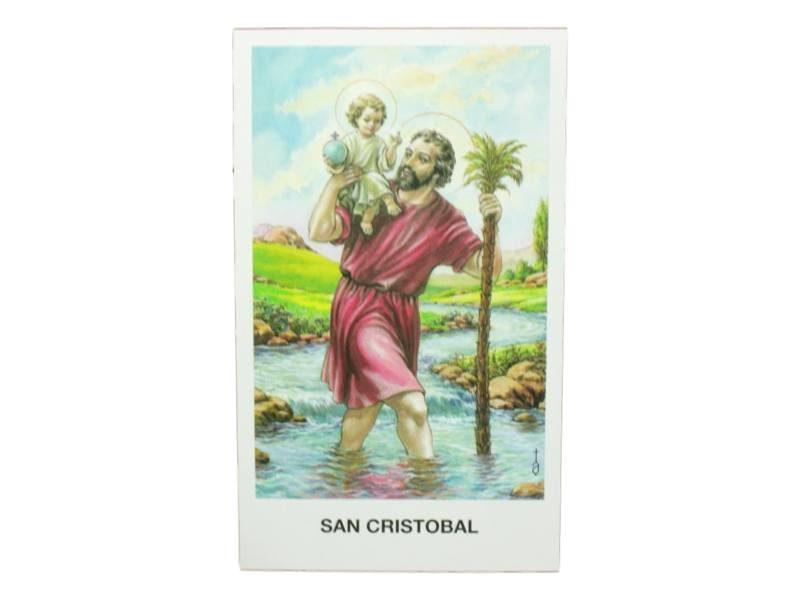 Estampita San Cristobal frente