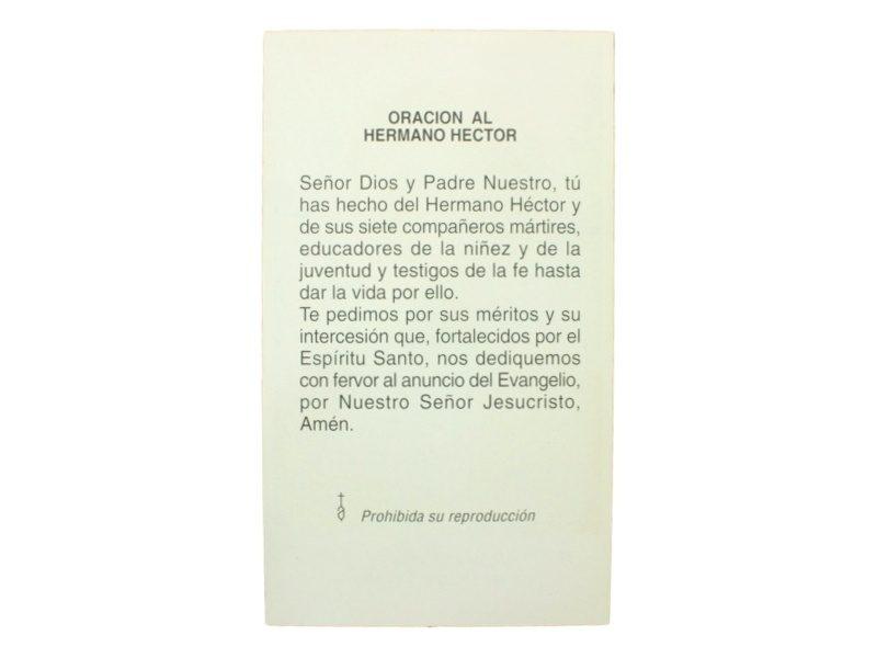 Estampita Hector Valdivieso Saez oracion
