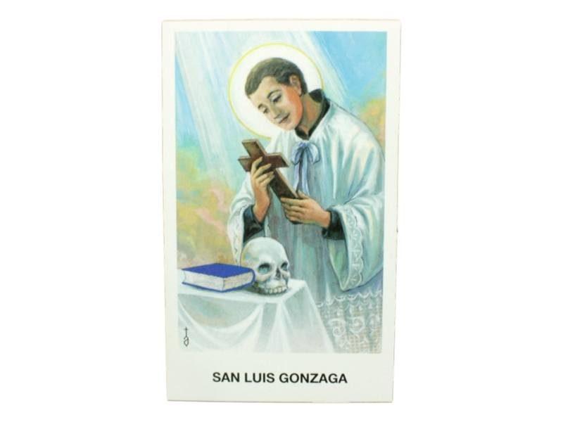Estampita San Luis Gonzaga frente