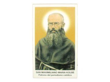 Estampita Maximiliano Kolbe frente
