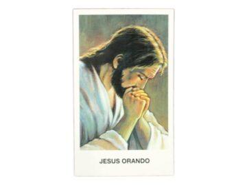 Estampita Jesus Orando frente