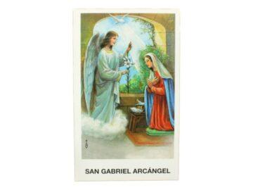 Estampita San Gabriel Arcangel frente