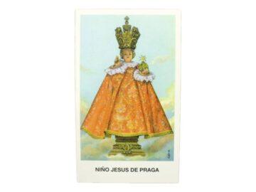 Estampita Niño Jesus de Praga frente