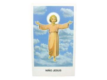 Estampita Niño Jesus frente