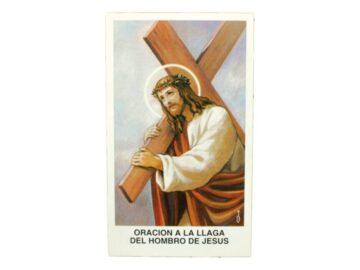Estampita Oracion a la llaga del hombro de Jesus frente