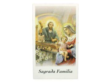 Estampita Sagrada Familia frente
