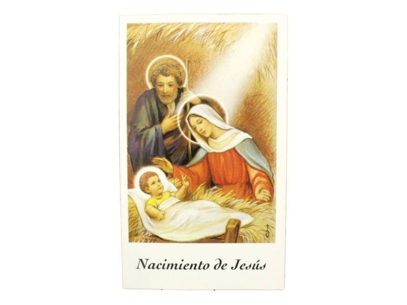 Estampita Nacimiento de Jesus frente