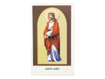Estampita Cristo Justo Juez frente