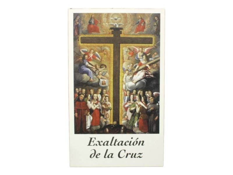 Estampita Exaltacion de la Cruz frente
