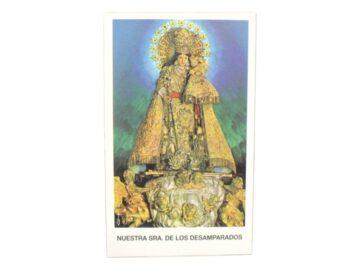 Estampita Virgen de los Desamparados frente