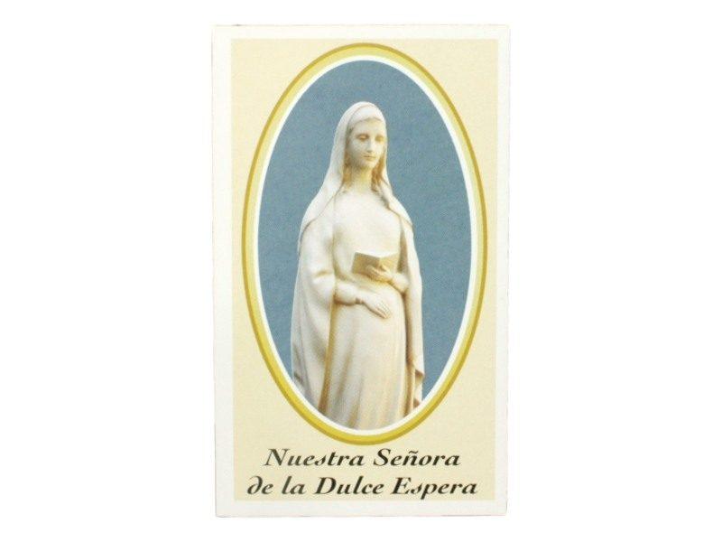 Estampita Virgen de la Dulce Espera frente