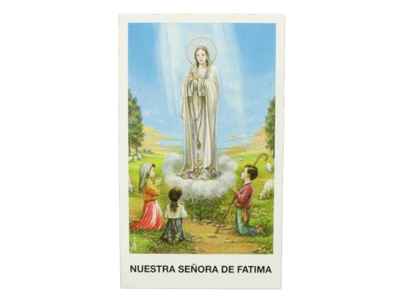Estampita Virgen de Fatima frente