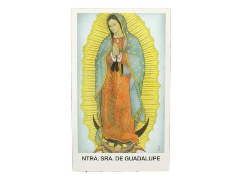 Estampita Virgen de Guadalupe frente