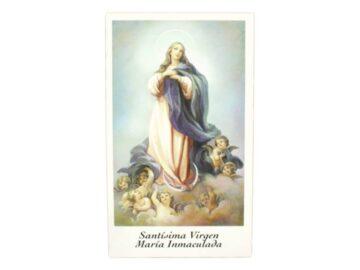 Estampita Virgen Maria Inmaculada frente