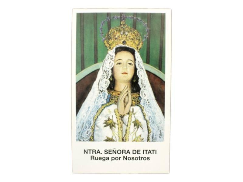 Estampita Virgen de Itati frente