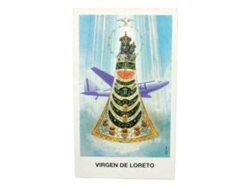 Estampita Virgen de Loreto frente