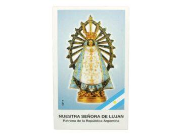 Estampita Nuestra Señora de Lujan frente