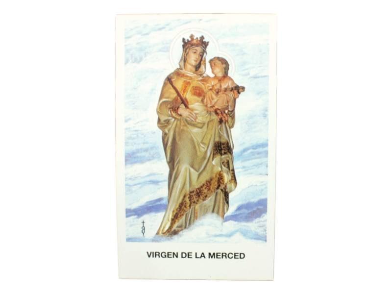 Estampita Virgen de la Merced frente