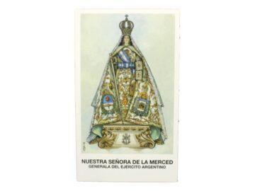 Estampita Nuestra Señora de la Merced Generala del Ejercito frente