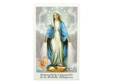 Estampita Inmaculada Concepcion de la Medalla Milagrosa frente