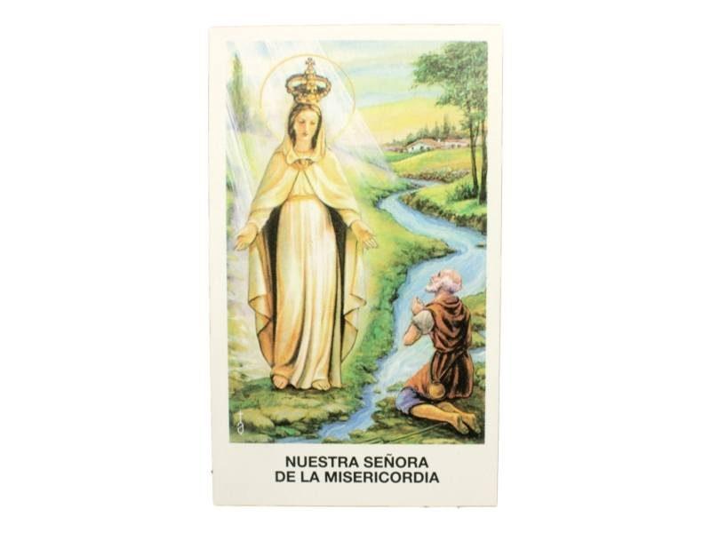 Estampita Nuestra Señora de la Misericordia frente