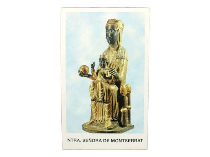 Estampita Virgen Nuestra Señora de Montserrat frente