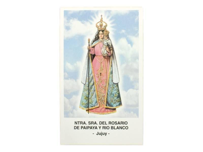 Estampita Nuestra Señora de Paipaya y Rio Blanco