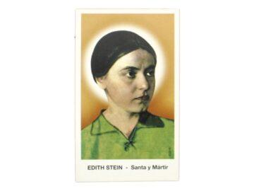 Estampita Santa y Martir Edith Stein frente
