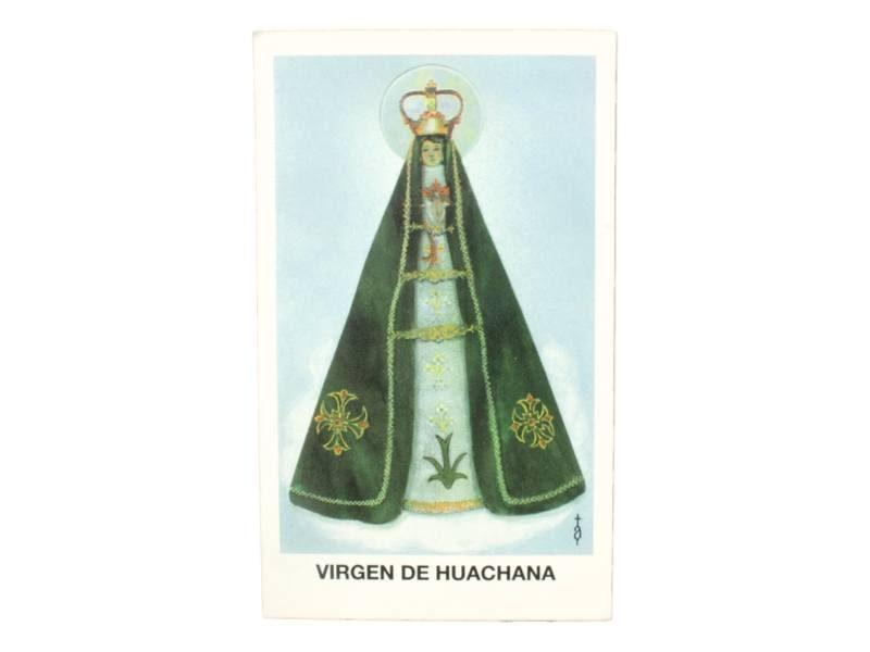 Estampita Virgen de Huachana frente