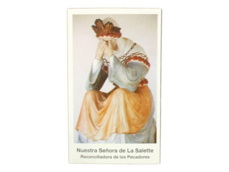 Estampita Nuestra Señora de La Salette frente
