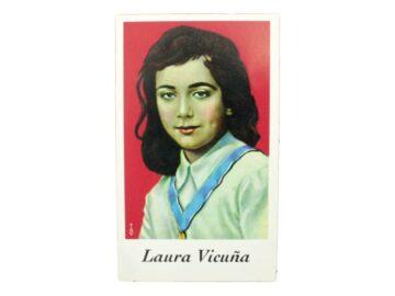 Estampita Laura Vicuña frente