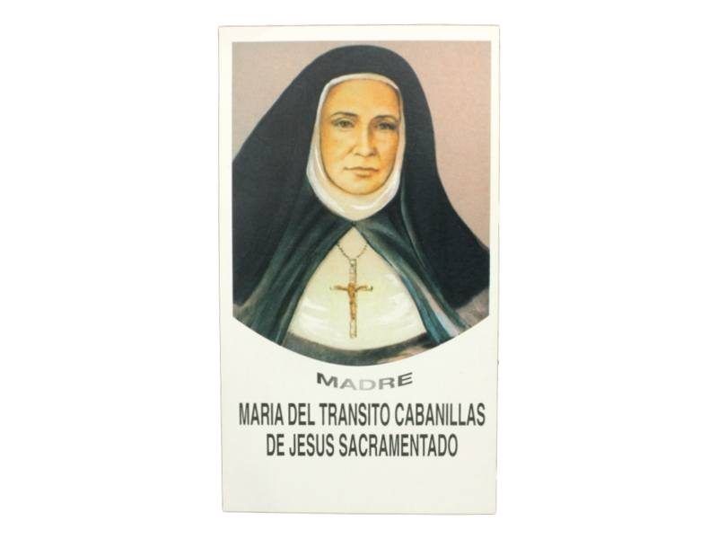 Estampita Madre Maria del Transito Cabanillas de Jesus Sacramentado frente