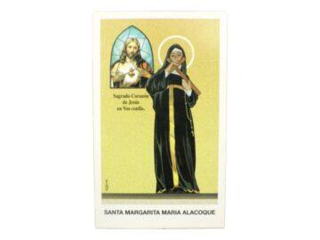 Estampita Santa Margarita Maria Alacoque frente