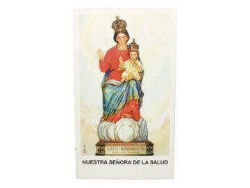 Estampita Virgen Nuestra Señora de la Salud frente