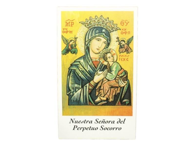 Estampita Virgen Nuestra Señora del Perpetuo Socorro frente