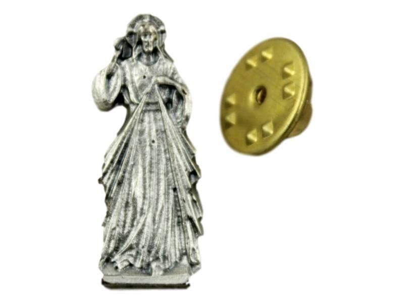 Pin_prendedor_plateado_Jesus_Misericordioso_-_frente