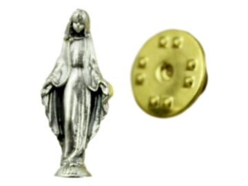 Pin_prendedor_plateado_Medalla_Milagrosa