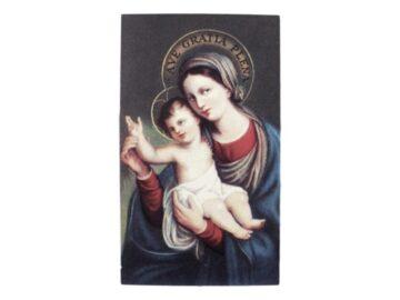 Estampita_santoral_Nuestra_Señora_del_Huerto_-_frente