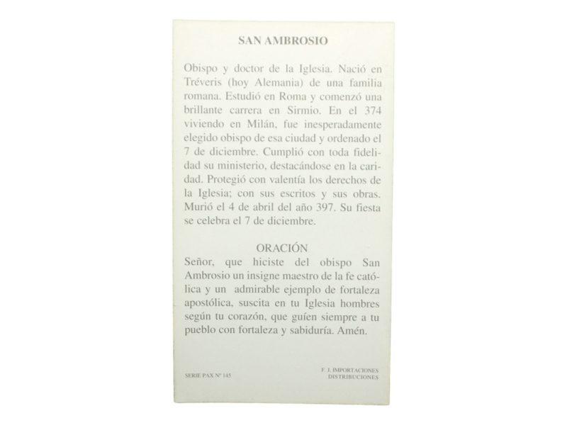 Estampa_santoral_San_Ambrosio_-_oracion