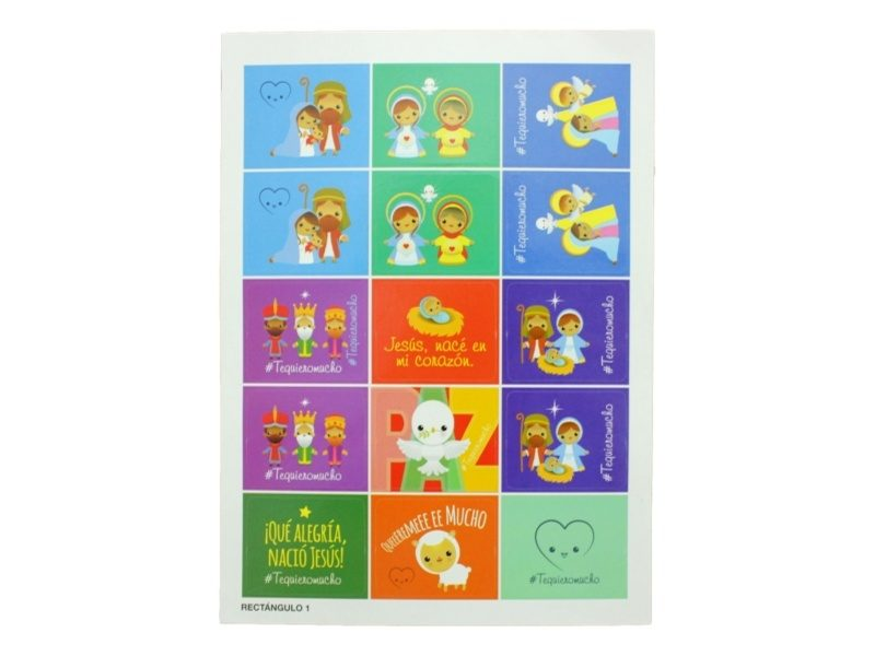 Plancha_15_stickers_Pesebre_Naif_Navidad