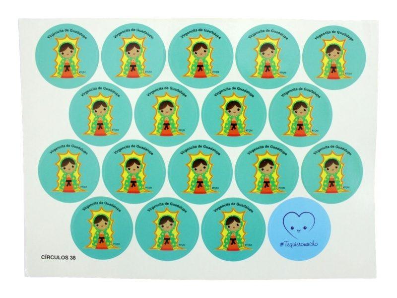 Plancha_18_stickers_Virgen_de_Guadalupe_infantil