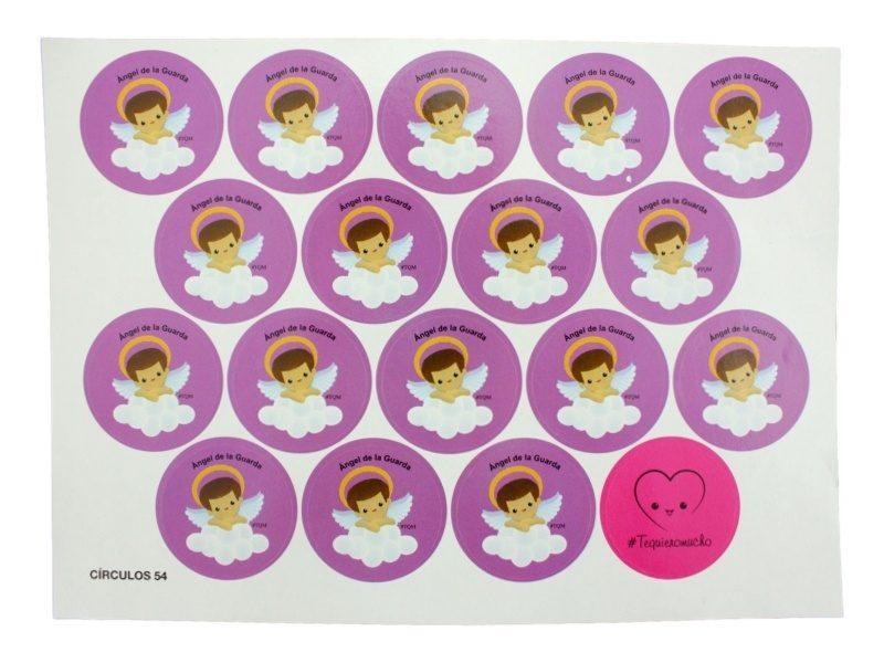 Plancha_18_stickers_Angel_de_la_Guarda_infantil_-_violeta