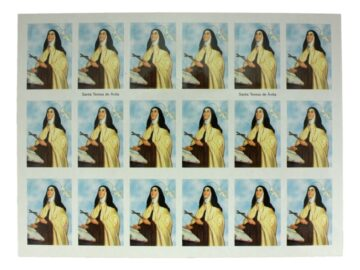 Plancha_18_stickers_Santa_Teresa_de_Avila