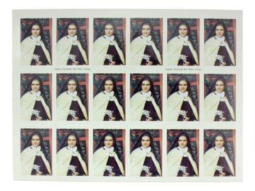 Plancha_18_stickers_Santa_Teresita_del_Niño_Jesus