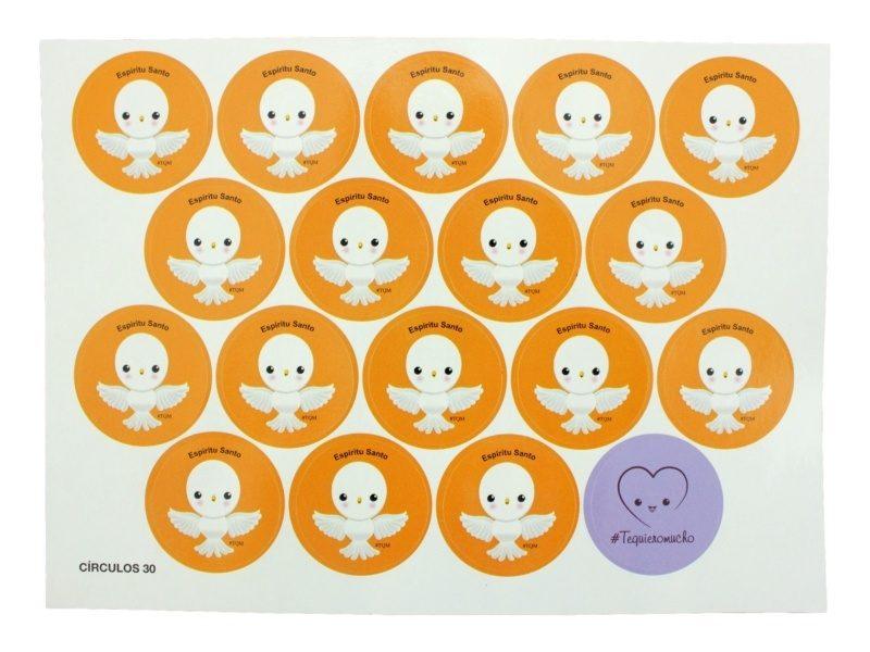 Plancha_18_stickers_infantiles_Espiritu_Santo_paloma